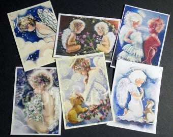 Angels 6 for 6 Sweet Samplers,  aceo art prints