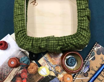Small Flannel Lazy Susan Punchneedle Frame