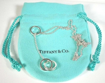 Tiffany Sterling Silver 1837 Interlocking Circle Lariat Necklace