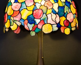 Desk Lamp, Bedside Lamp, Hydrangea, Bedside Lamps, Stained Glass Lamp, Table Lamp, Stained Glass Art, Tiffany Lamp, Lampshade, Bespoke Light