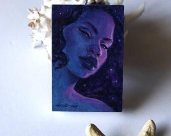 Deep Sea Witch ORIGINAL Acrylic Study