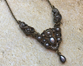 Romantic Pendant, Holiday Party Jewelry, Victorian Pendant, Necklace, Gift Ideas, For Her, Vintage Look