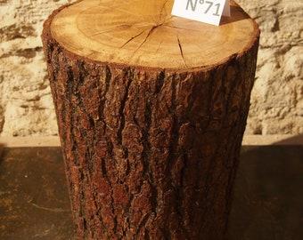 Wood end table, table log, natural decoration, bedside, log