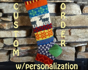 FOR CHRISTMAS 2018, Knit Christmas Stocking, Knitted Christmas Stocking, Personalized Knit Christmas Stocking, Christmas Stockings