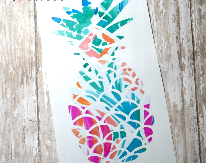 Lilly Pulitzer Inspired Pineapple Decal ~ Yeti Decal ~ Lilly Car Decal ~ Lilly Decal ~ Lilly Sticker