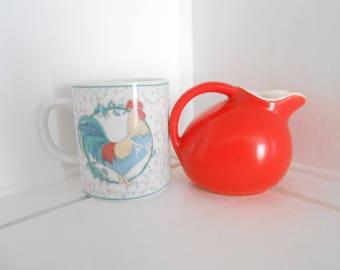 Vintage coffee mug / Exclusive for George Good by Fabrizio 1985 / Rooster mug