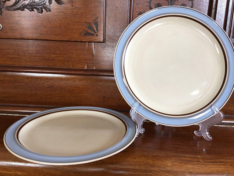 gallery photo ... & Vintage Horizon Mikasa Surf Dinner Plate Set Matching Pair ...