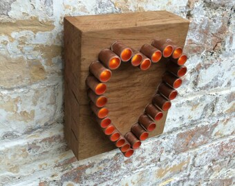copper heart light