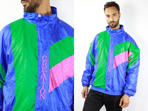 Vintage Windbreaker Vintage Track Jacket Retro Windbreaker Blue Vintage Jacket Vintage 90s Windbreaker 90s Track Jacket Retro Tracksuit Top