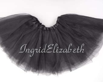 Black 4-Layer Tutu, Black Toddler Tutu, Black Ballet Tutu, Black Tutu Skirt, Black Girls Tutu, Black Dance Tutu, Tulle Skirt, Costume