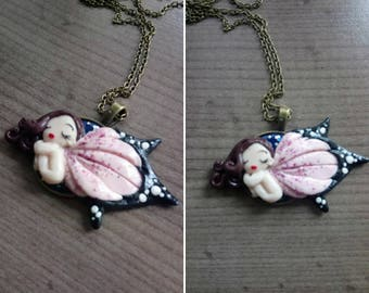Necklace little sleeping fairy