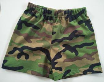 Camouflage Shorts,Boys shorts, Size 3, Summer shorts, toddler shorts