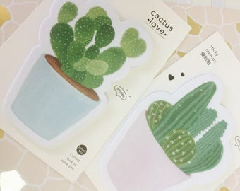 Cactus Memo Pad - Sticky Notes - Notepad