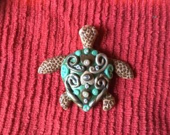 Sea Turtle - polymer clay