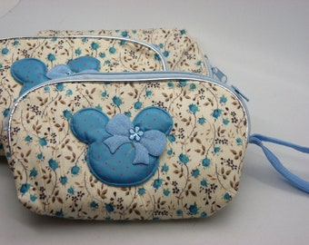 a turquoise fabric kits flowers 15 cm x 10 cm