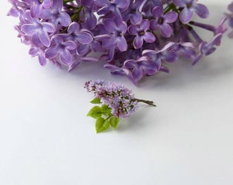 TO ORDER - Lilac branch 1/12 scale, dollhouse decor, dollhouse flowers, dollhouse miniatures