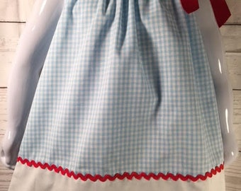 Dorothy Dress, Wizard of Oz Dress Pillowcase Dress,Girls wizard of oz dress, Dorothy Costume dress, Blue Gingham Dress, Oz dress