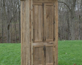 Awesome Rustic Linen Cabinet   Reclaimed Barn Wood (Unfinished) #9908