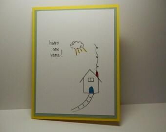 Greeting Card, New Home Card, Housewarming Card, Handmade Card