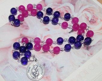Saint Anthony Rosary Chaplet, Prayer Beads, Christian Rosary Chaplet, Saint Anthony of Padua, Saints Chaplets, Gift for Her