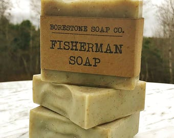 Fisherman Soap (1 bar, BERGAMOT, French green clay)