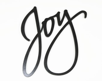 Word Art Wood 3D Cutout Joy by MRC Wood Products