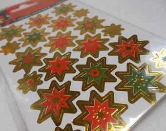 Stickers, Stars, 1 sheet (114)