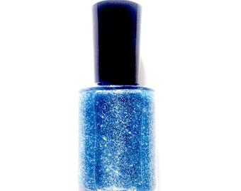 Sea Blue - Vegan Blue Glitter Nail Polish - Vegan - Glitter - Nail Polish - Cruelty Free - Blue