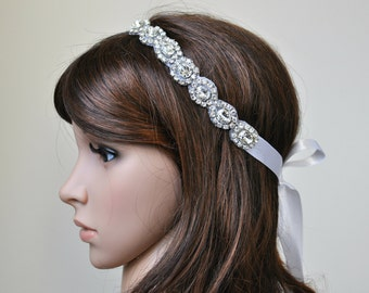 Wedding headpiece, headband, AMELIA, Rhinestone Headband, Wedding Headband, Bridal Headband, Bridal Headpiece, Rhinestone