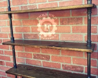 Steampunk Shelf, Industrial shelves, Wall Shelves, industrial shelf, pipe shelf,steampunk furniture, pipe shelving, rustic shelf, shelving
