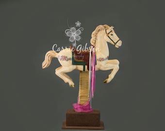 Carousel Horse digital background