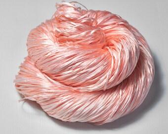 Old bleached plastic flamingo OOAK - Hand Dyed Silk Tape Lace Yarn - SUMMER EDITION - Hand Dyed Yarn - handgefärbte Wolle - DyeForYarn