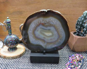 Agate Platter - One of a kind - Beautiful Home Decor - Crystal Collection -  (PT-38)