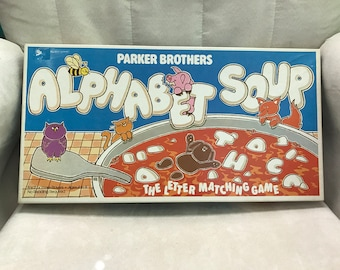 Vintage 1981 Children's Game Alphabet Soup
