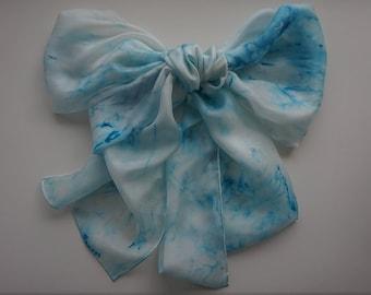Handpainted silk scarf 45 x 180 cm