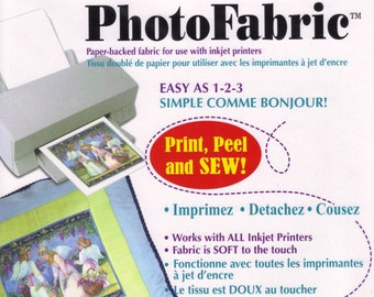 Photo Fabric, paper backed fabric to use with inkjet printers