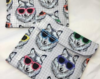 Cool Wolves Reusable Sandwich Bag, Reusable Snack Bags