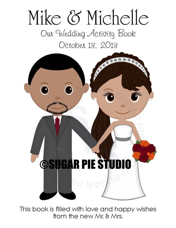 Wedding coloring activity book PDF or JPEG TEMPLATE Printable