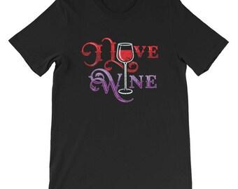 I Love Wine Shirt - Wine Lover Shirt - Wine Tasting T-Shirt - Vino Shirt - Wine Shirt - Wine Glass Shirt - Winery TShirt - Vineyard Tee