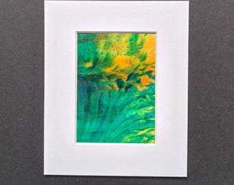 Original ACEO abstract artwork 'Tropical' series #5 Yorkshire artist