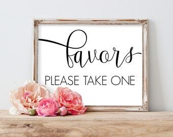 Printable Wedding Favors Sign, Favors Please Take One, Favors Sign, Favors Wedding Sign, Wedding Favor Sign, Favors Wedding Printable
