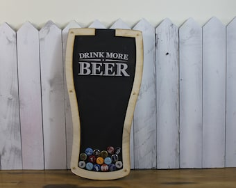 Bottle Cap Holder/Bottle Cap Display/Pilsner Shape/Pint Glass Shape/Beer Decor/Bar Decor/Father's Day/Man Gift/ Collector/Cap Display