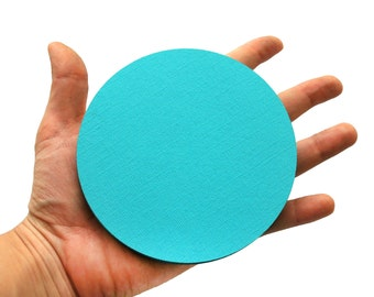 16 Die Cut Circles, Cardstock circles,  Die cut Circles for Party, banner , Choose up your size  A223