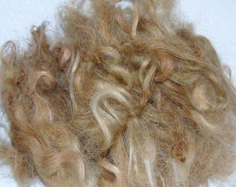 Karakul Sheep Wool Locks for Doll Hair, Doll Wig, Spinning and Felting, Hand Dyed shades of Light, Medium to Dark Blond 1 oz.