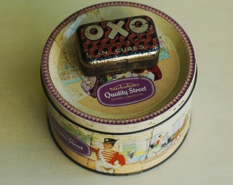 Vintage Tins Small Quality Street And Miniature Oxo