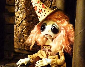 OOAK Gothic Witch Art Doll - Halloween Art Doll - Creepy Cute