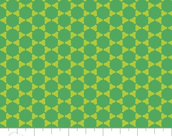 Camelot Fabric Green with Envy Collection, Polka Dot Cotton Fabric, Quilting and Patchwork Fabric