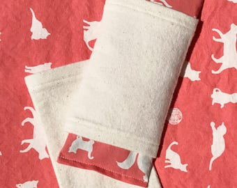 Eye Pillow w/2 Covers Organic Cat Print  Stress Relief