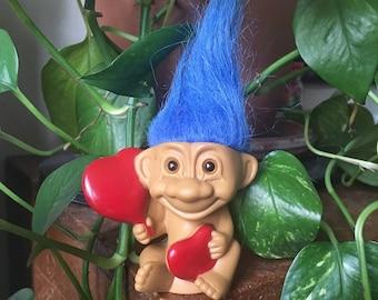Sitting Hearts Troll Doll (Russ - 1992)