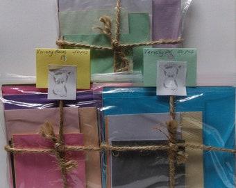 Solid color scrapbook paper scrap packs